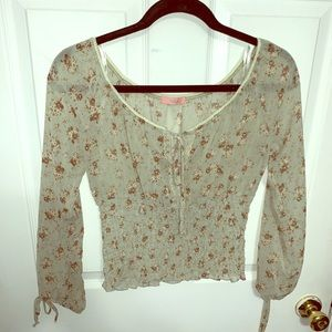Smocked peasant blouse